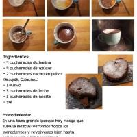 #Recetas Brownies al microondas