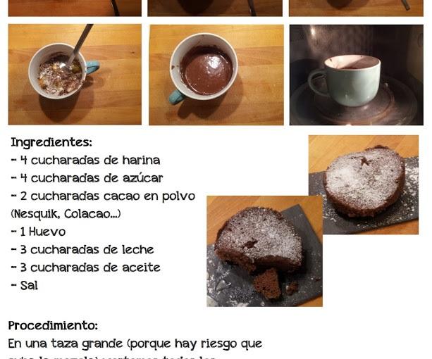 #Recetas Brownies almicroondas