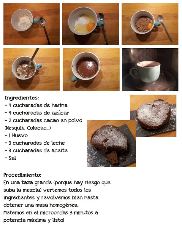 Brownies 3 minutos microondas