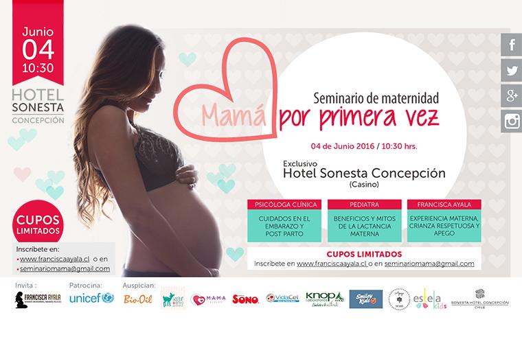 """El seminario """"Mamá Por Primera Vez"""" llega aConcepción"""