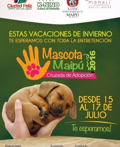 Gran cruzada de adopción de mascotas enMaipú