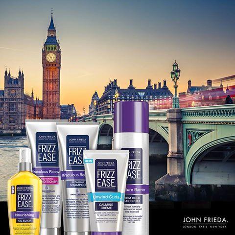 Este verano no te olvides de los  productos John Frieda para combatir el frizz y dar forma a tucabello