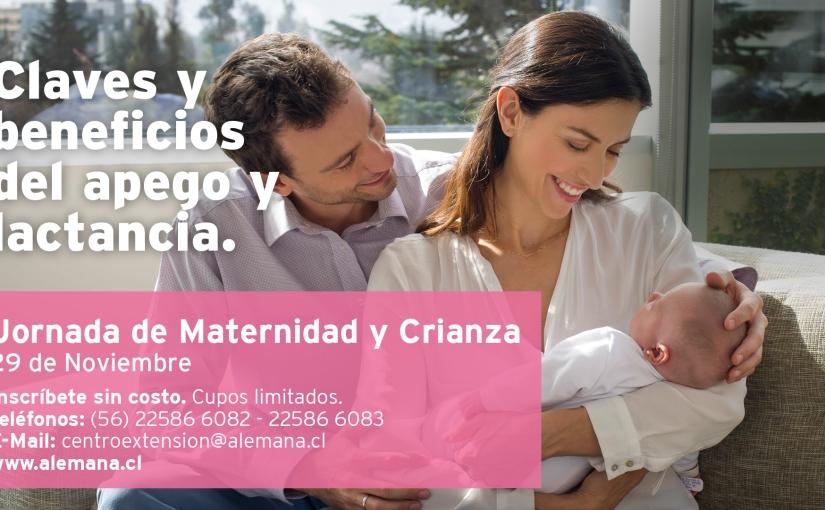 """Jornada de Maternidad y Crianza  llamada """"Claves y beneficios del apego y lalactancia"""""""