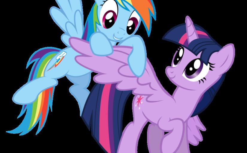 PANORAMA: Twilight Sparkle y Rainbow Dash de My Little Pony te invitan a una mágicaaventura
