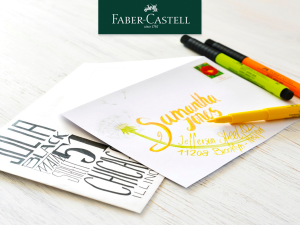 lettering faber castell
