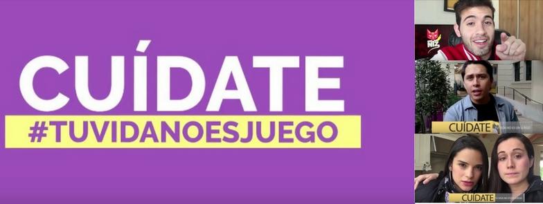 #TuVidaNoEsJuego