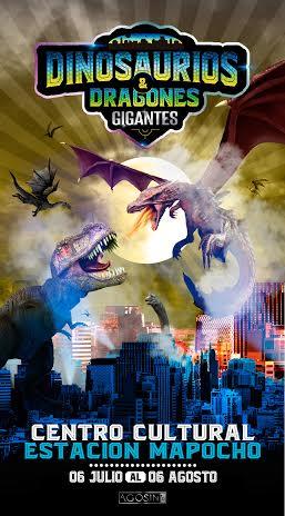 Afiche Dinos y Dragone limpio agosin