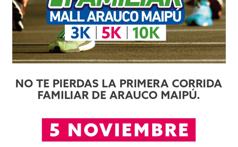 #PanoramaGratis Ya se encuentran abiertas las inscripciones para las corridas de Mall Arauco Maipú y AraucoQuilicura