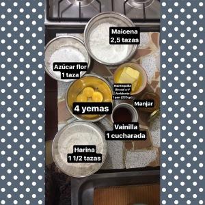 ingredientes alfajores de manjar