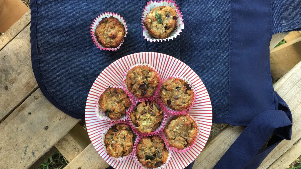 muffins de fruta con harina de maíz somela nutrimax