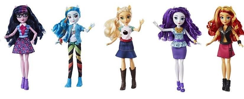 Las muñecas Equestria Girls regresan a las tiendas con ropa más sofisticada, a la moda y según el estilo único de cadapersonaje.