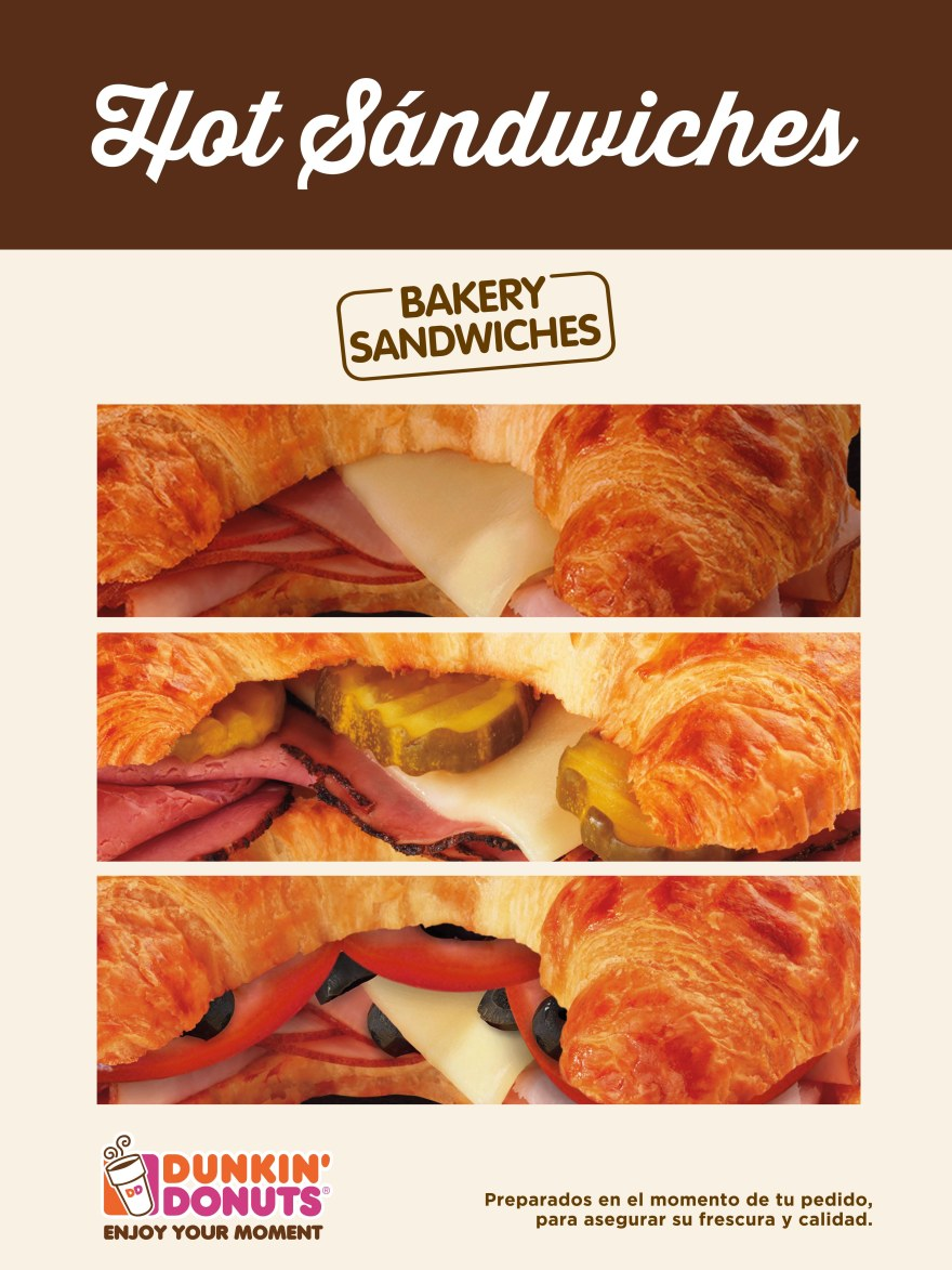 hot sandwiches dunkin' donuts