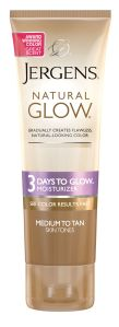 jergens 3 days to glow
