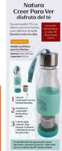 natura ver para creer botella infusor