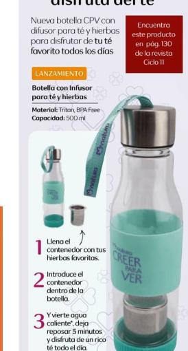 Atención amantes del té: mira esta nueva botellainfusora